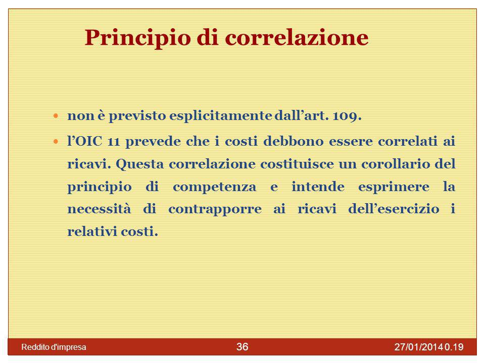 Principio di correlazione
