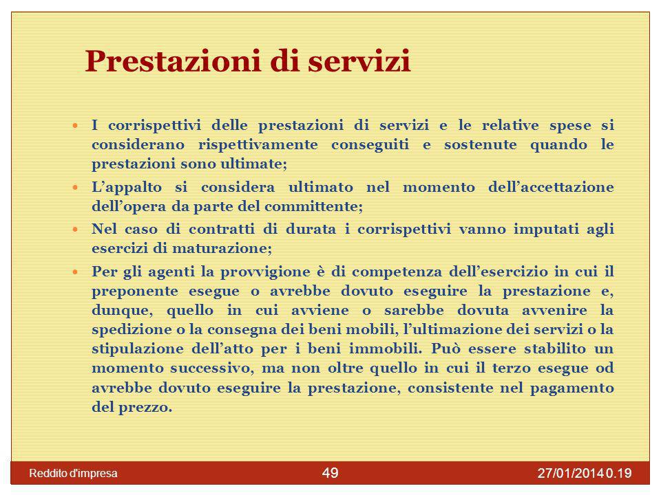 Prestazioni di servizi