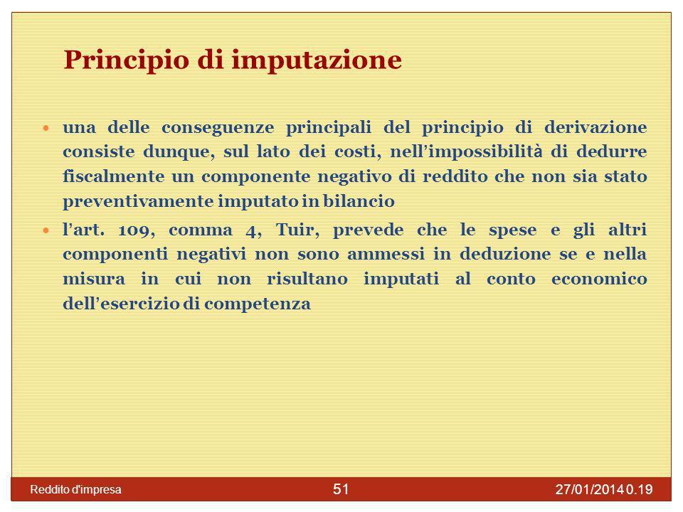 Principio di imputazione