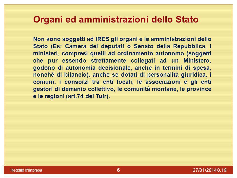 Organi ed amministrazioni dello Stato