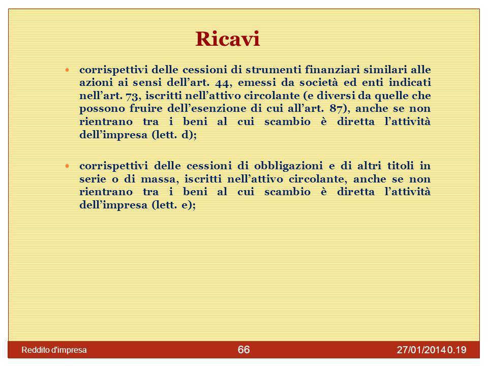 Ricavi
