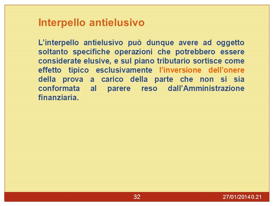 Interpello antielusivo