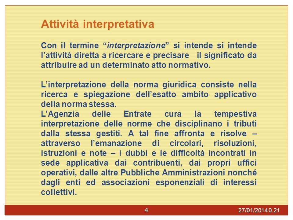 Attività interpretativa