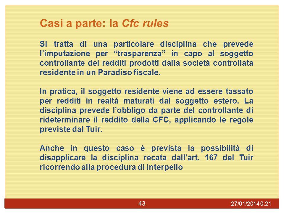 Casi a parte: la Cfc rules