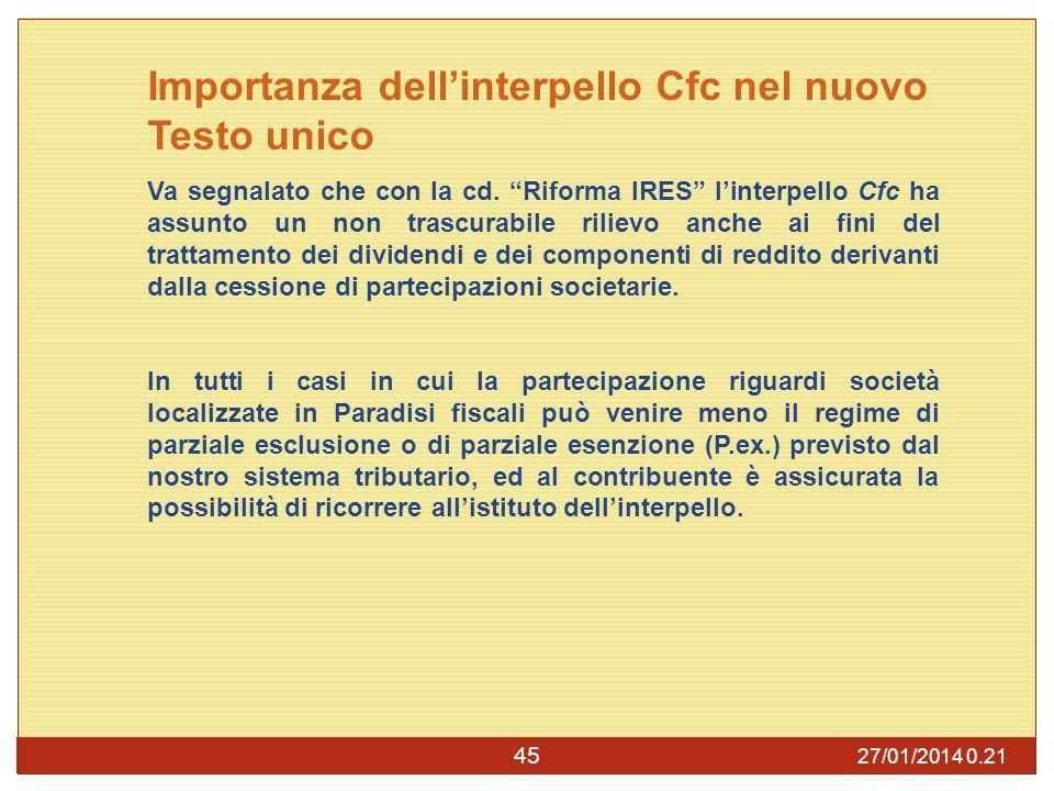 Importanza dell'interpello Cfc nel nuovo Testo unico