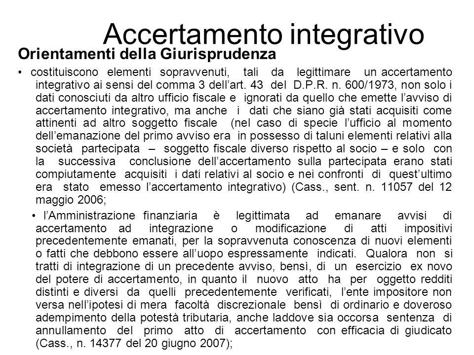 Accertamento integrativo