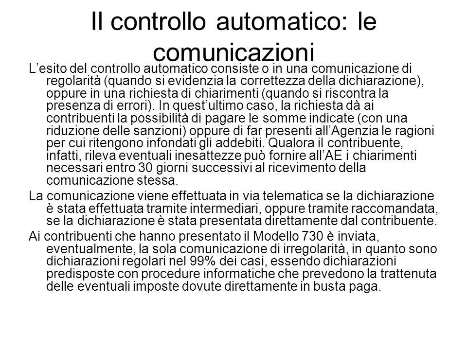 Il controllo automatico: le comunicazioni