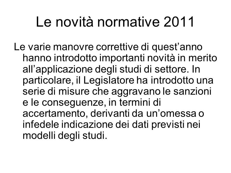 Le novità normative 2011
