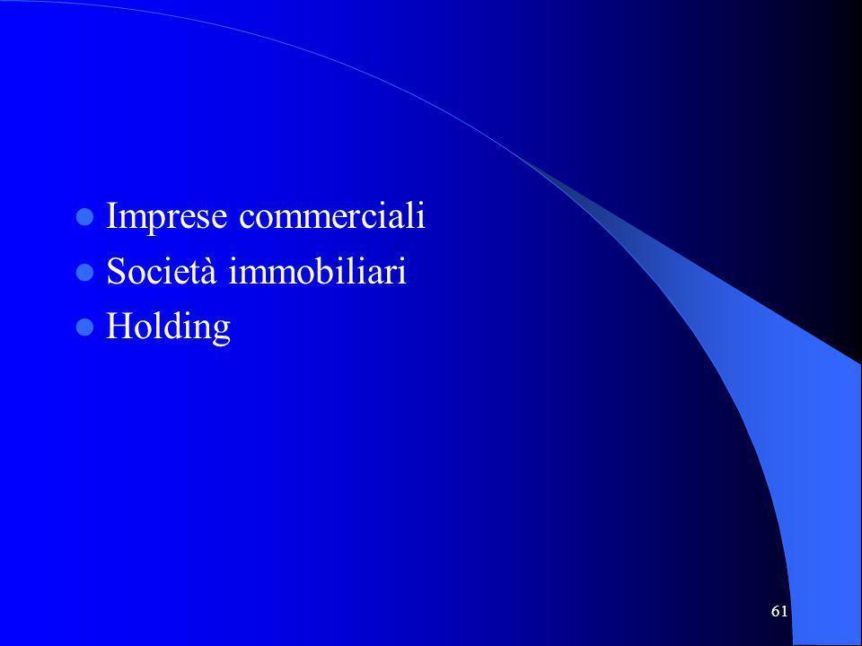 Imprese commerciali Società immobiliari Holding