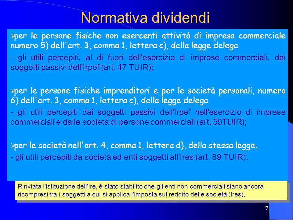 Normativa dividendi