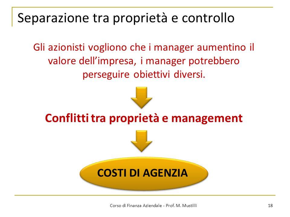 Separazione tra proprietà e controllo