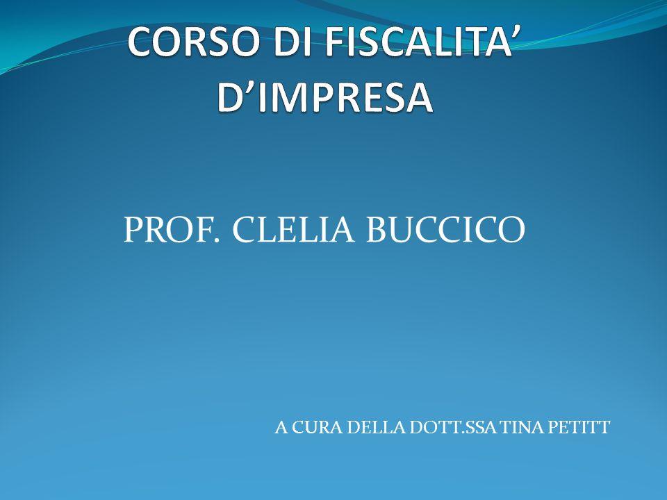 CORSO DI FISCALITA' D'IMPRESA