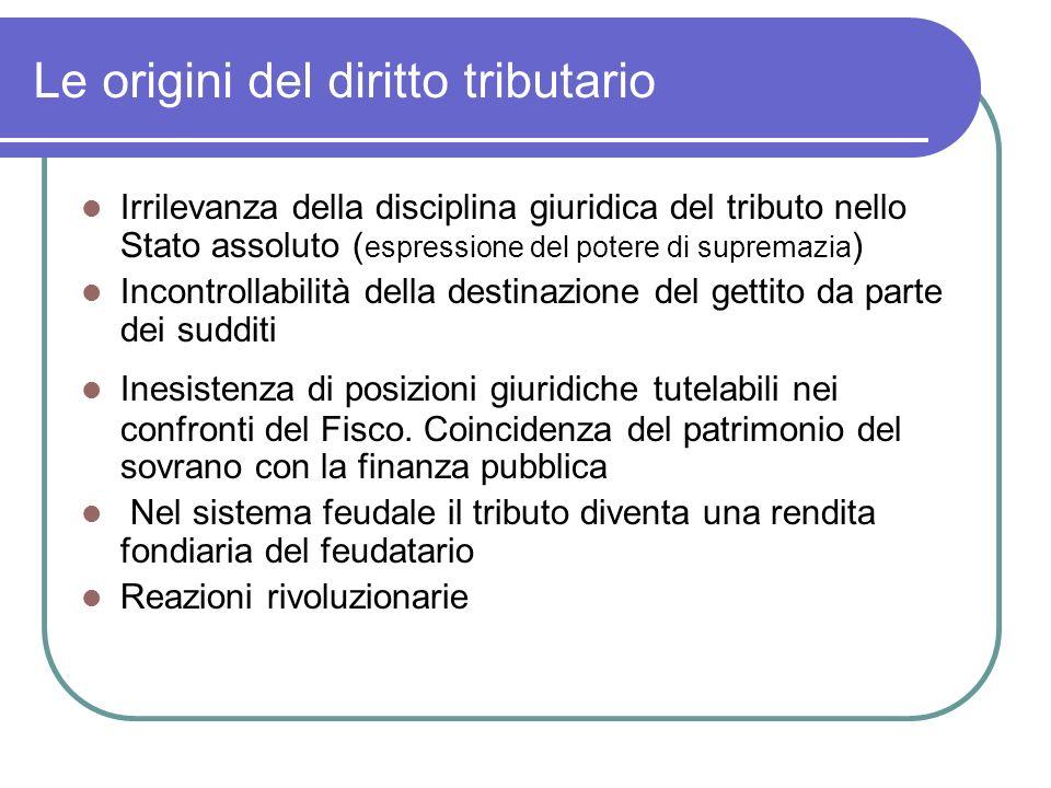 Le origini del diritto tributario