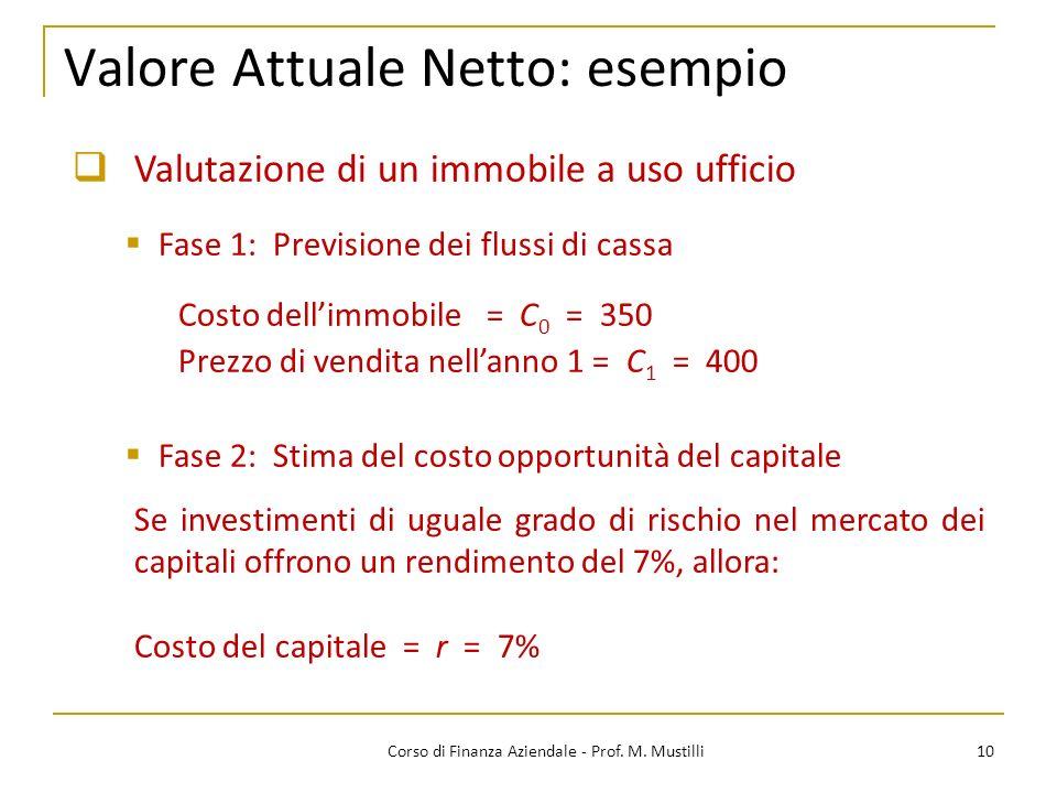 Valore Attuale Netto: esempio