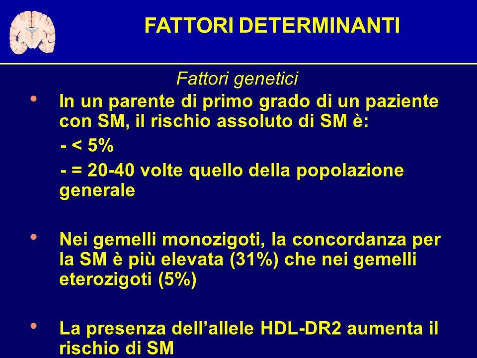 FATTORI DETERMINANTI Fattori genetici