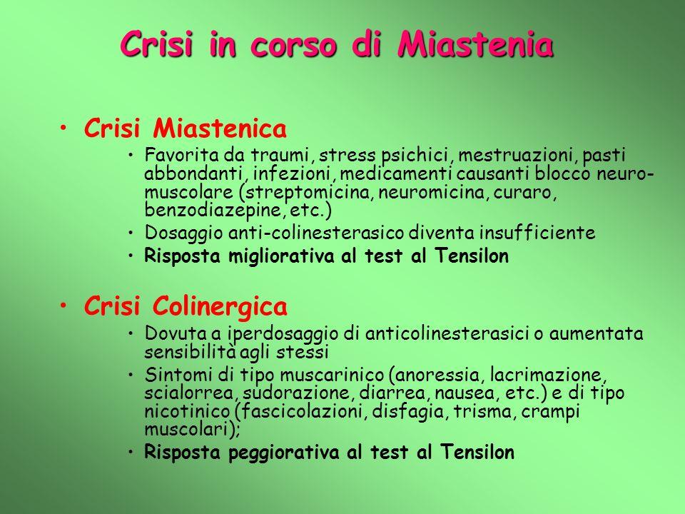Crisi in corso di Miastenia