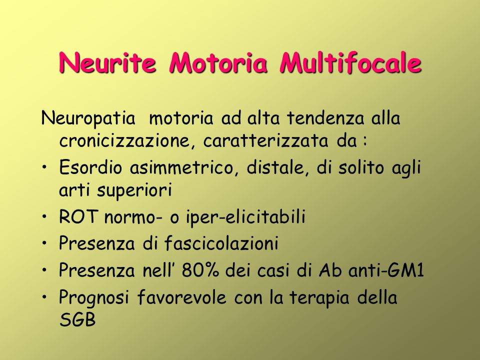 Neurite Motoria Multifocale