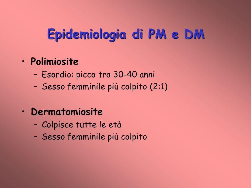 Epidemiologia di PM e DM