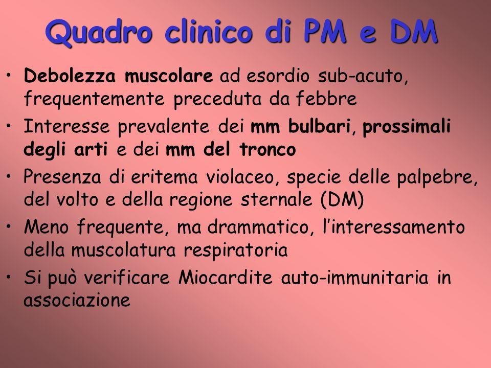 Quadro clinico di PM e DM