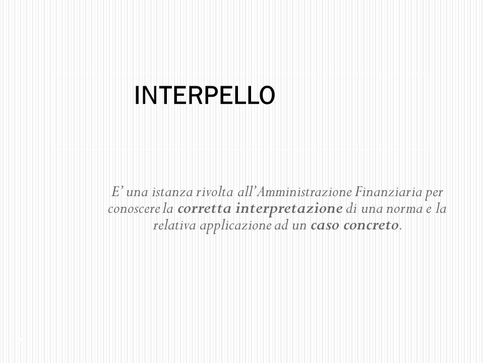 INTERPELLO
