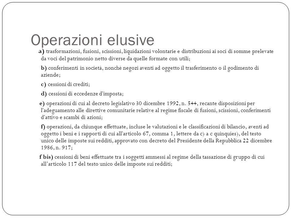 Operazioni elusive