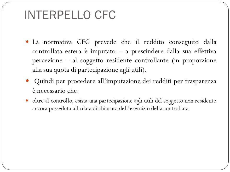 INTERPELLO CFC