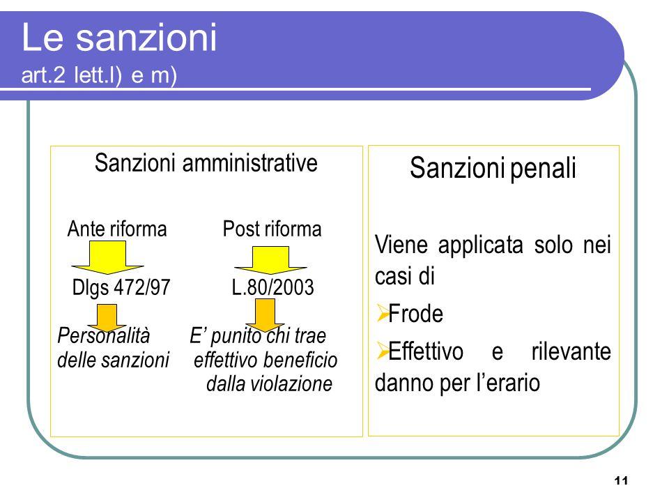 Le sanzioni art.2 lett.l) e m)
