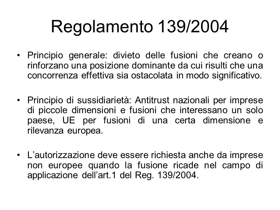 Regolamento 139/2004
