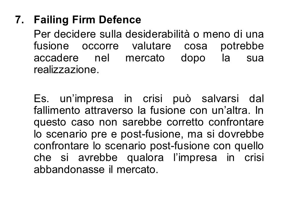 Failing Firm Defence