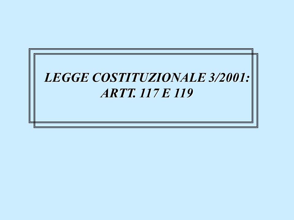 LEGGE COSTITUZIONALE 3/2001: