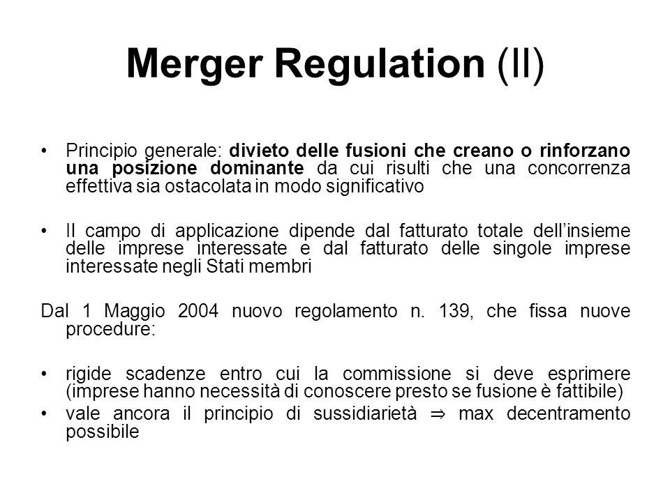 Merger Regulation (II)