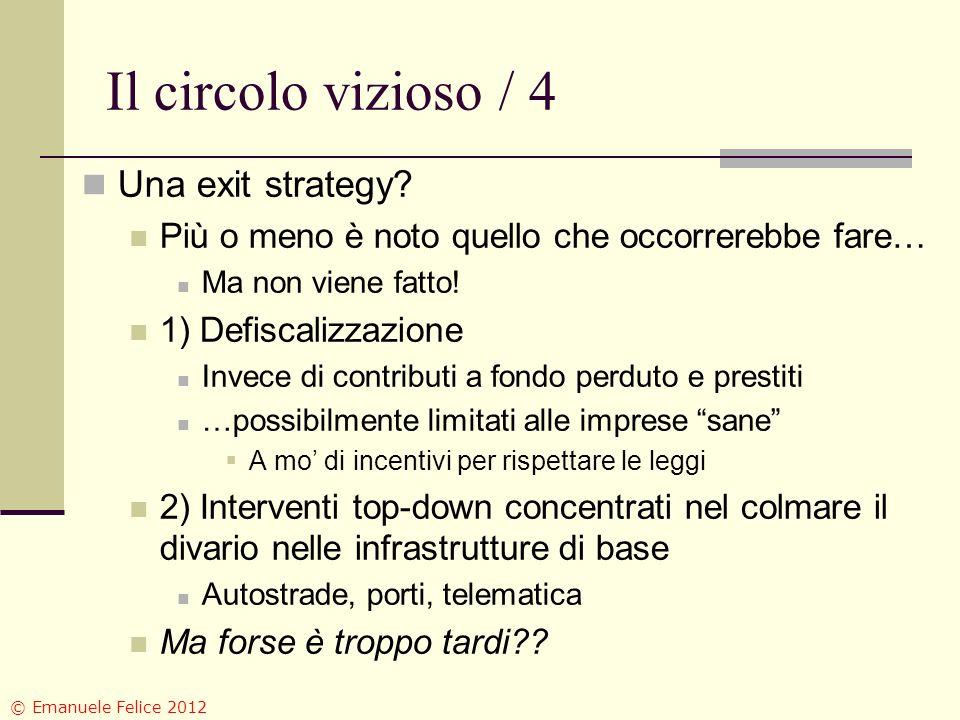 Il circolo vizioso / 4 Una exit strategy