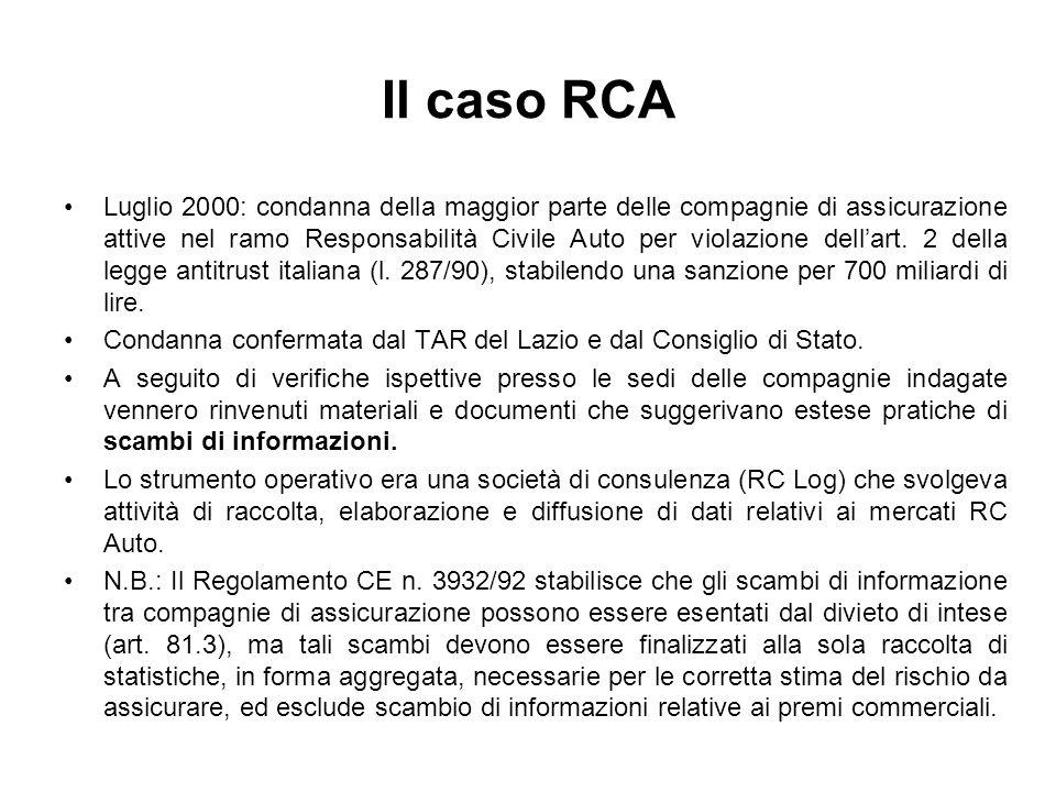 Il caso RCA