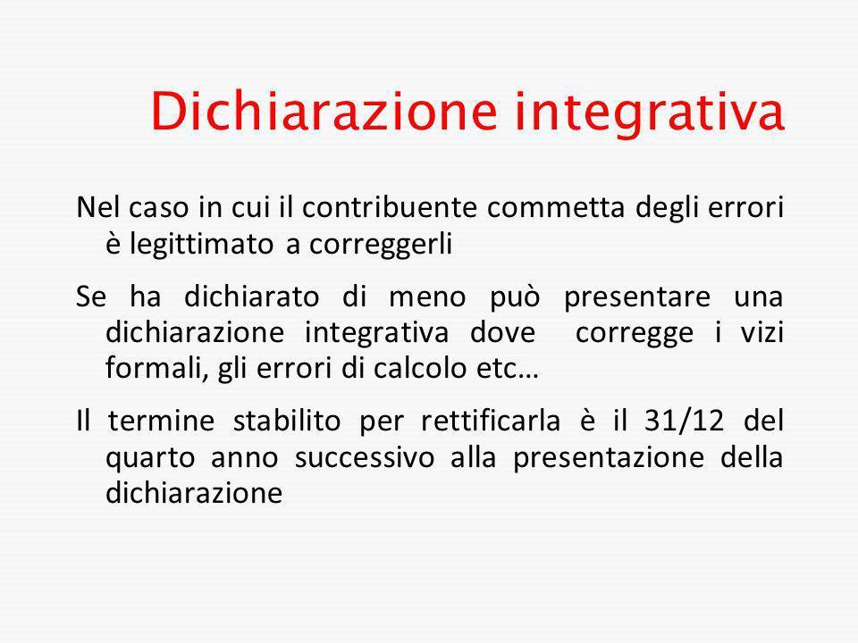 Dichiarazione integrativa