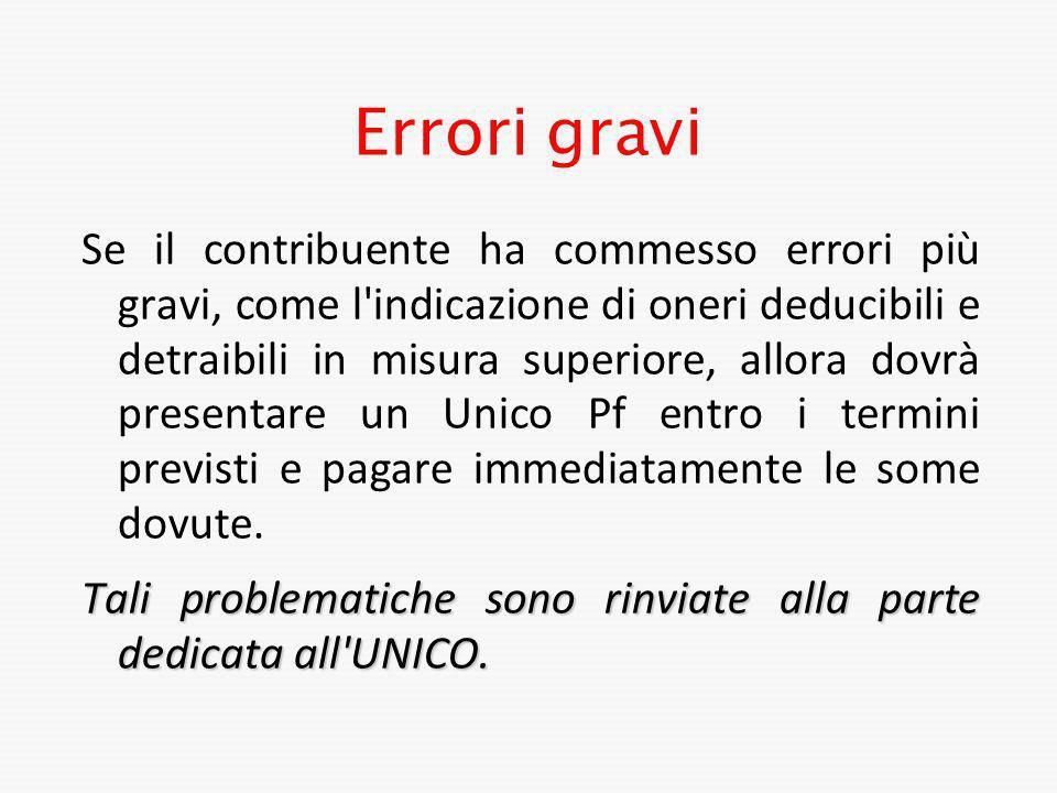 Errori gravi
