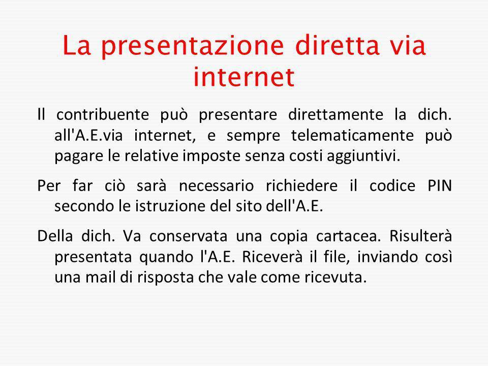 La presentazione diretta via internet