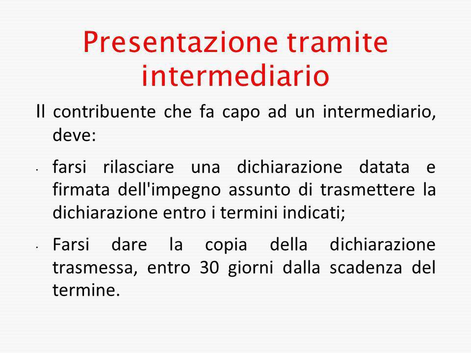 Presentazione tramite intermediario