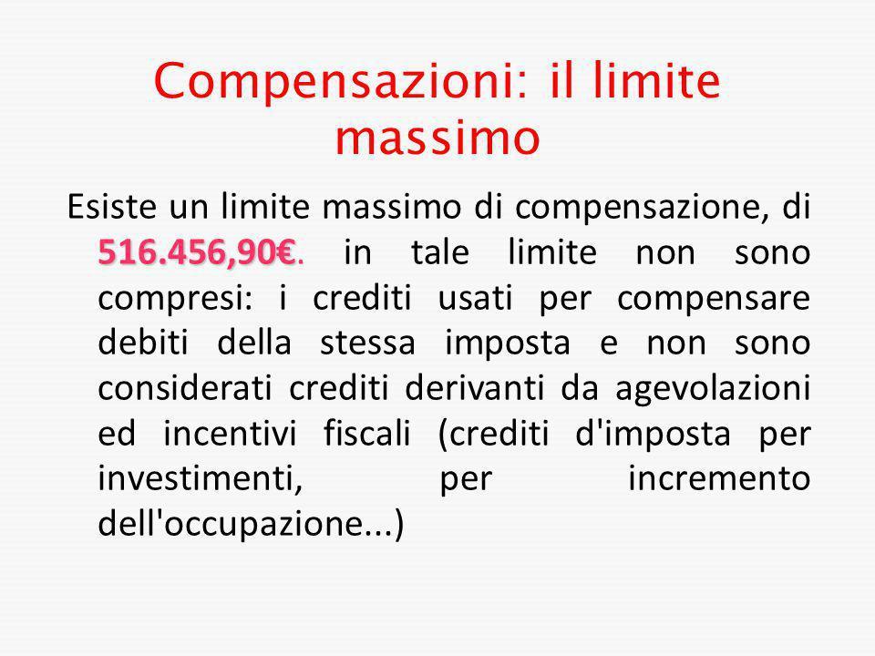 Compensazioni: il limite massimo