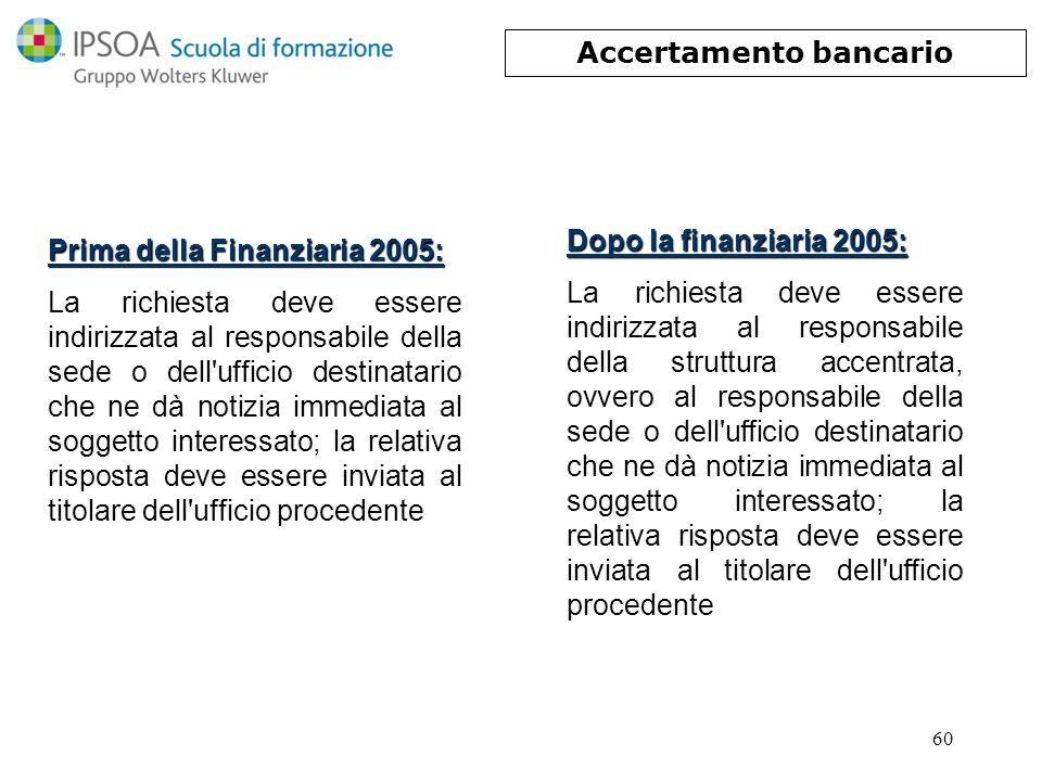 Accertamento bancario