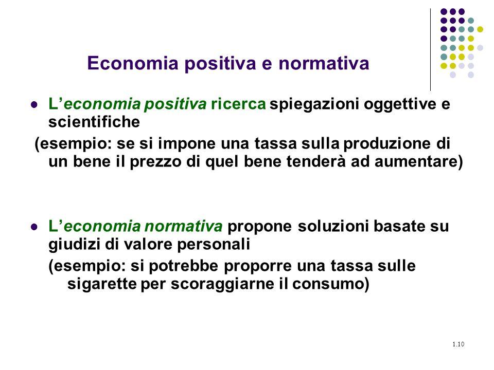 Economia positiva e normativa