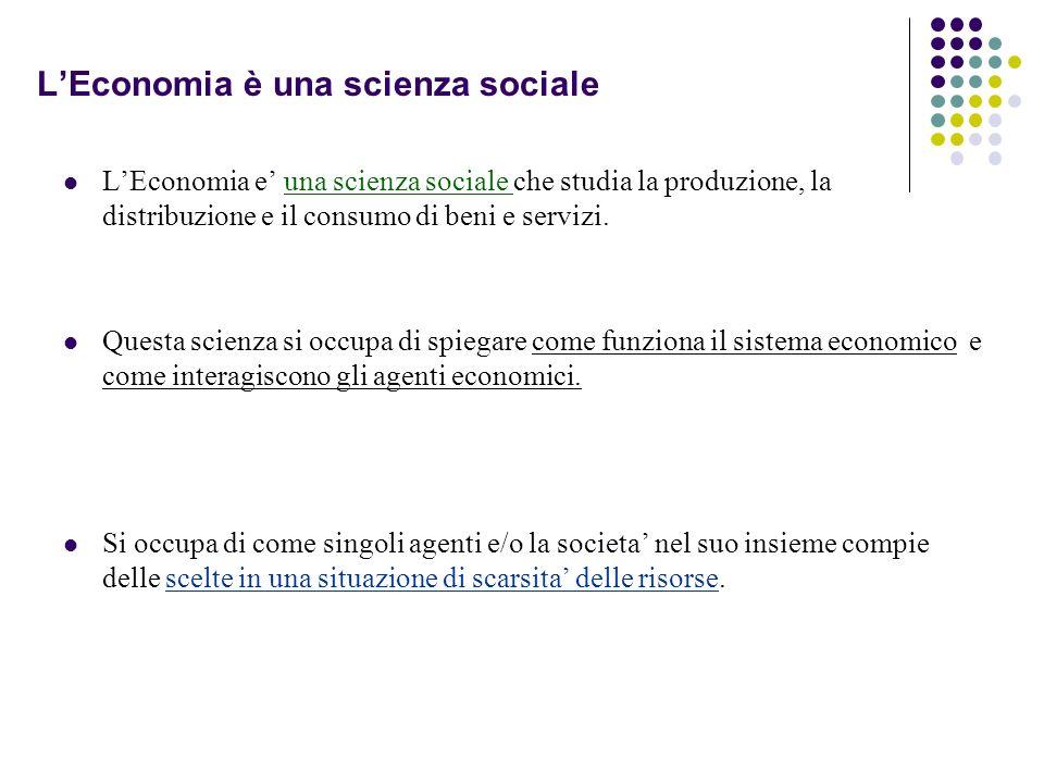 L'Economia è una scienza sociale