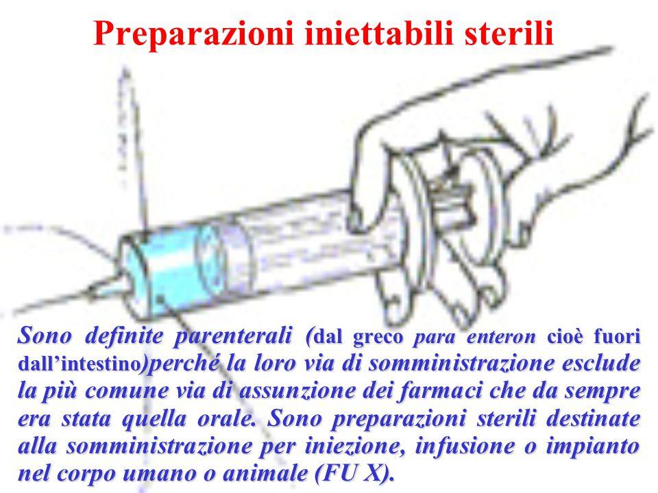 Preparazioni iniettabili sterili
