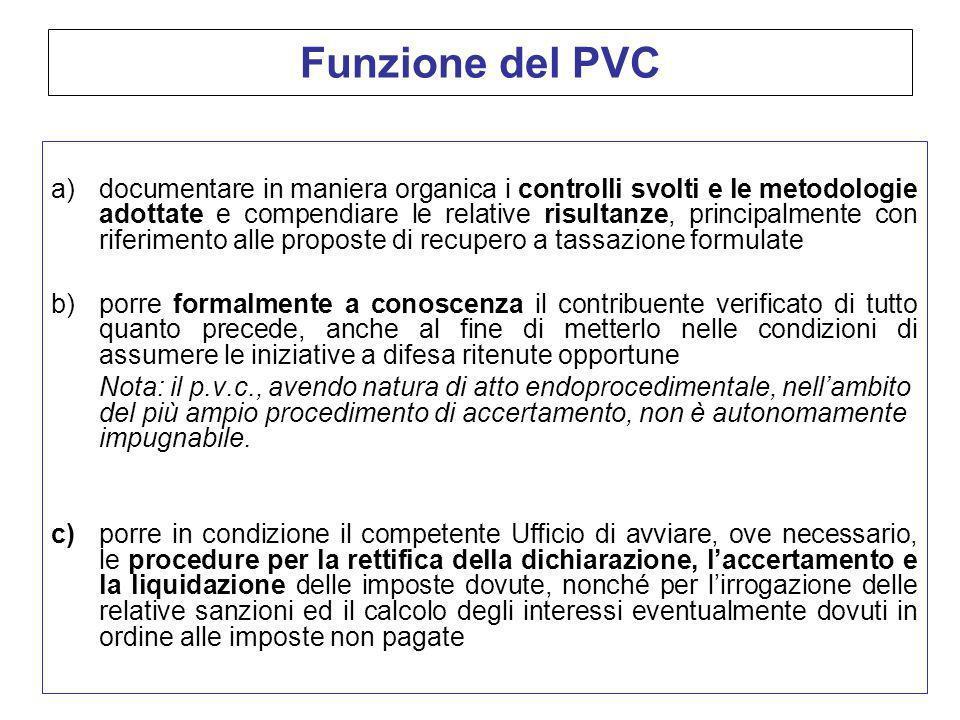 Funzione del PVC