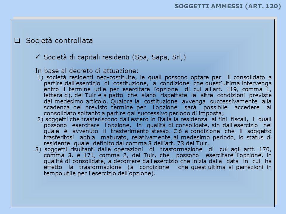 SOGGETTI AMMESSI (ART. 120)