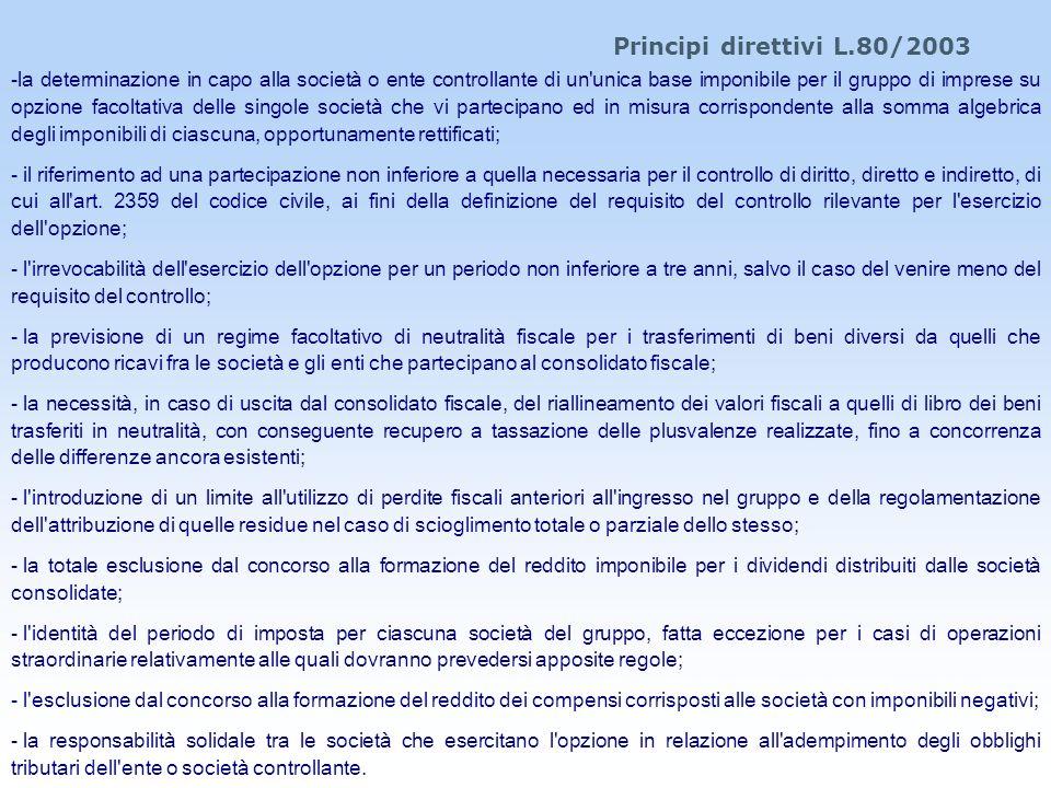 Principi direttivi L.80/2003