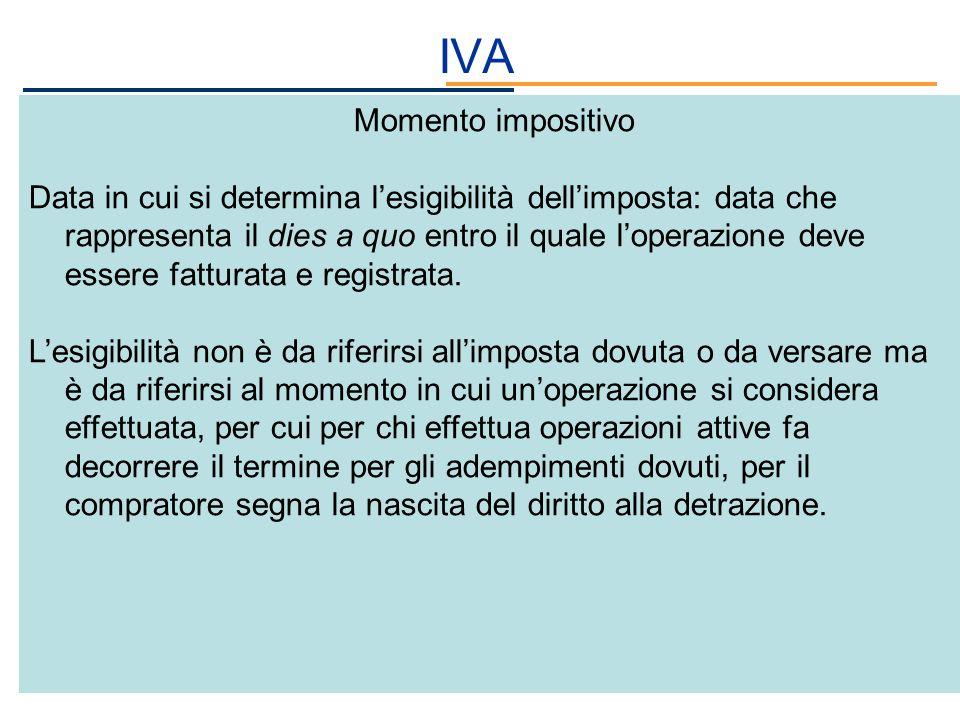 IVA Momento impositivo