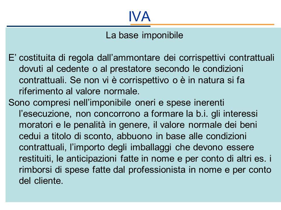 IVA La base imponibile.