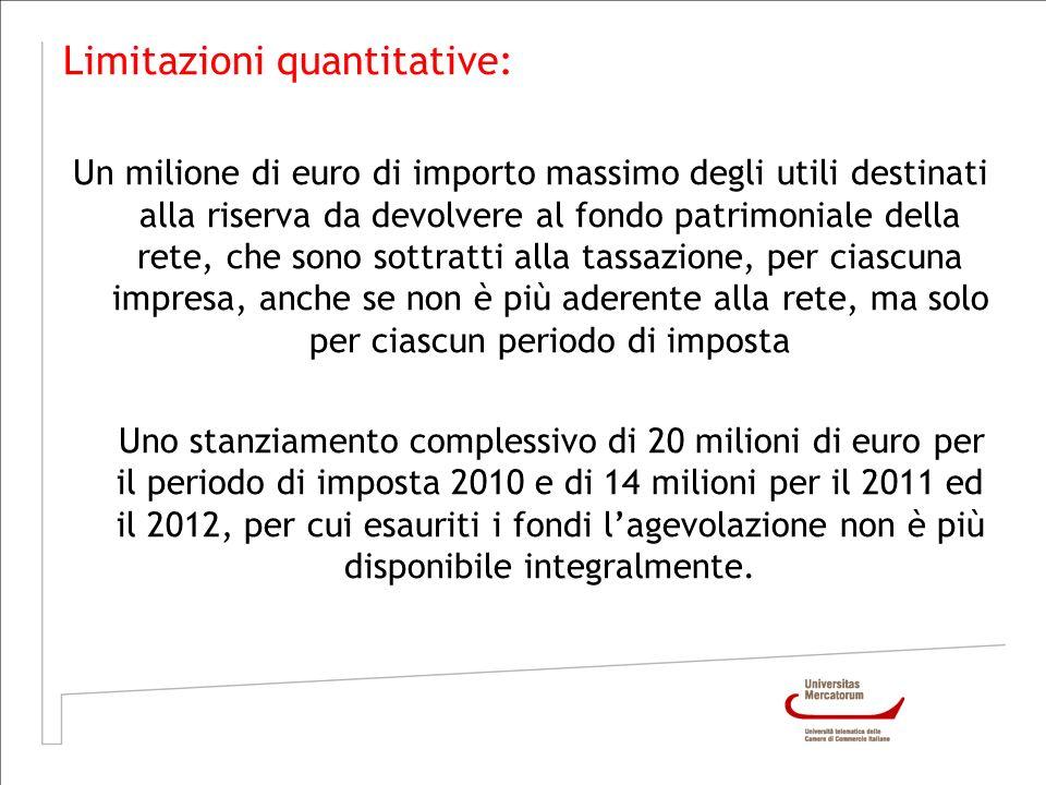 Limitazioni quantitative: