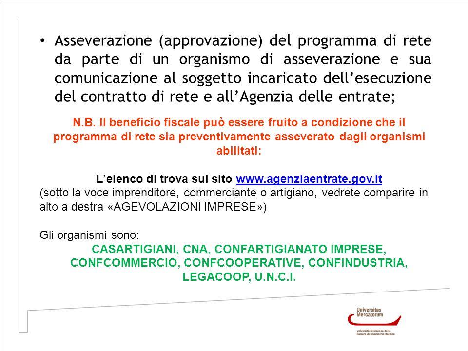 L'elenco di trova sul sito www.agenziaentrate.gov.it