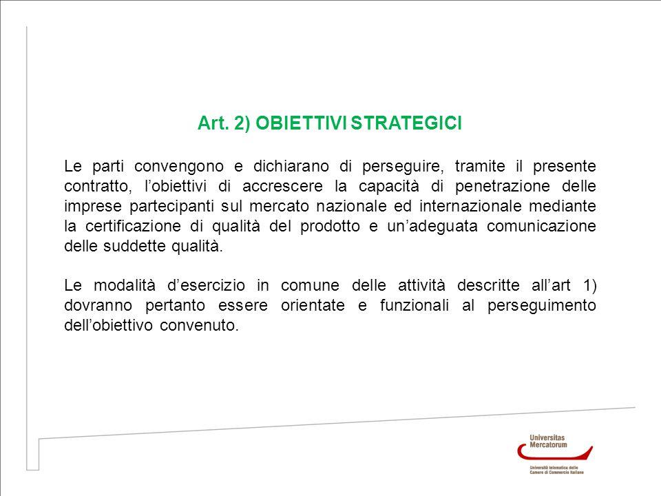 Art. 2) OBIETTIVI STRATEGICI